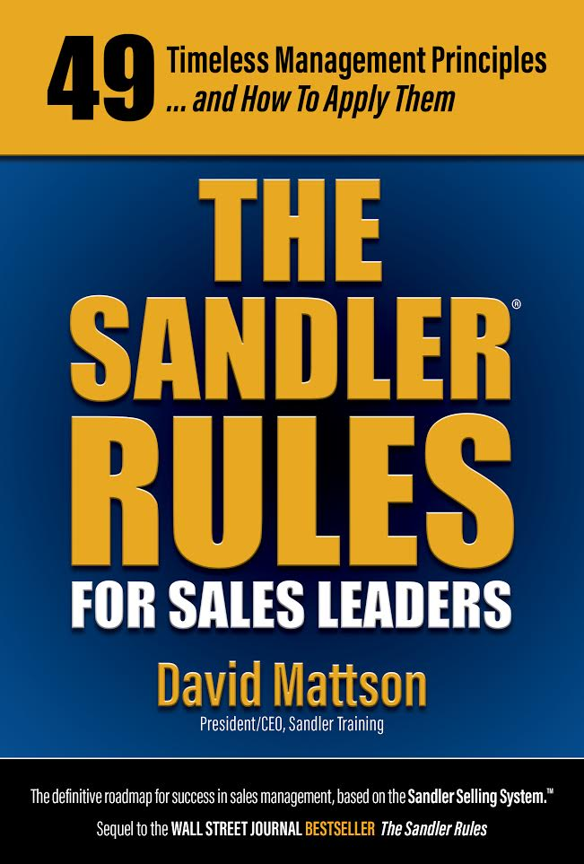 Cover art for The Sandler Rules for Sales Leaders