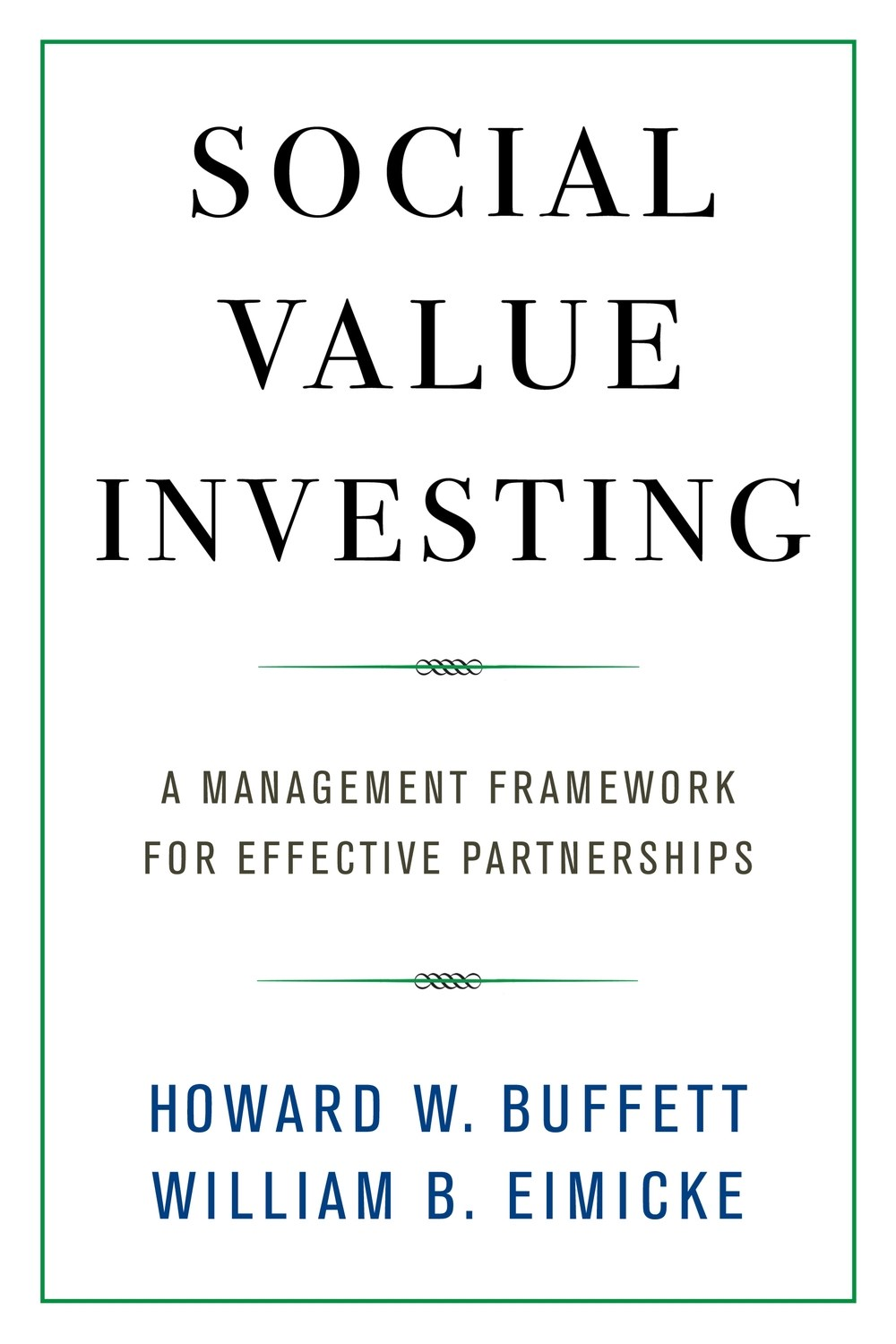 Cover art for Social Value Investing