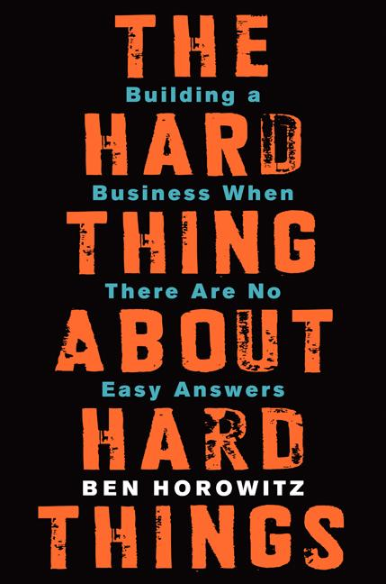 Cover art for The Hard Thing about Hard Things
